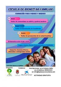 Escuela de Bienestar Familiar. Talleres formativos para padres y madres en Centro Social Comunitario Rabasa