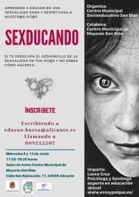 Sexducando: taller para aprender a educar en sexualidad. Centro Municipal Socioeducativo San Blas
