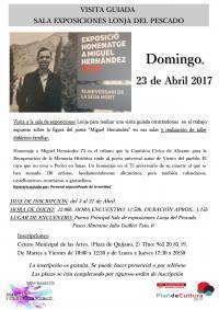Visita guiada exposición Miguel Hernández