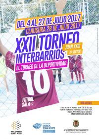 Cartel XXII Torneo Interbarrios Juan XXIII 2ºSector