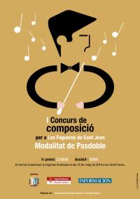 Imatge del I concurs de composició per a les Fogueres de Sant Joan.