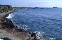 Costa sureste de Nueva Tabarca. Al fondo Cap Falcó e islote de La Nao. (Foto: José M. Pérez Burgos)