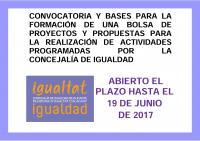 Concejalía de Igualdad: Bolsa de proyectos