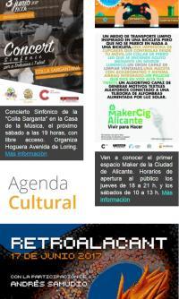 Boletines de noticias del Centro Cultural Las Cigarreras