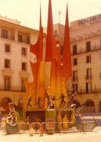 Foguera Plaça del Ajuntament, 1978