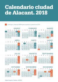 Calendario comercial 2018 Alicante