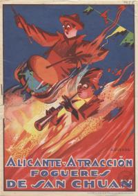 Programa Hogueras de San Juan 1928. Dibujo de Lorenzo Aguirre