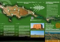 Folleto senderos Nueva Tabarca, patrimonio cultural y natural