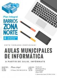 Aulas Municipales de Informática Verano 2018