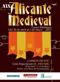 Cartel de Alicante Medieval 2015