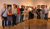 Daniel Simón, con un grupo de fotógrafos premiados