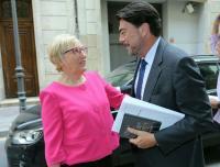 El alcalde Luis Barcala y la consellera de Sanidad, Ana Barceló, esta tarde