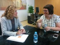 Sonia Tirado se reúne con nueva gerente de Mercalicante