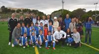 Luis Barcala y Marisa Gayo, con el equipo pre-benjamín del Hércules y algunos padres