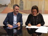Signatura del conveni ALDES-Llançadora