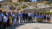 Representantes públicos y de la federación FAGA en el acto de homenaje