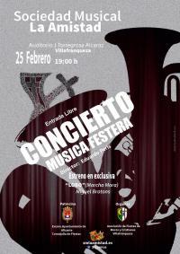 Cartel del concierto patrocinado por el Ayuntamiento