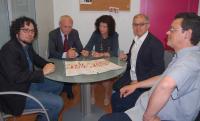 Una de las sesiones de trabajo, con D. Simón, A. Girona, A. Garijo, A. Guarinos y J. Vayá