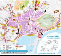 Plano de Autobuses Hogueras 2017.