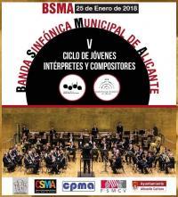 Cartel con el primer concierto del Ciclo de apoyo a Jóvenes Músicos - 2018