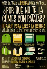 Cartel de la campaña de Limpieza Viaria
