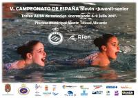 Cartel Natación Sincronizada