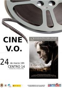 """Imagen cartel cine V.O. de la película """"Lincoln"""""""