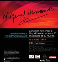 Cartel del concierto de la Banda para el miércoles 10 de mayo
