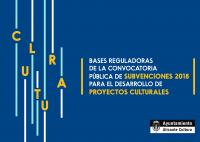 Convocatoria pública de Subvenciones para el desarrollo de Proyectos Culturales 2018