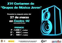 "Imagen cartel XVI Certamen de ""Grupos de Música Jóven""."
