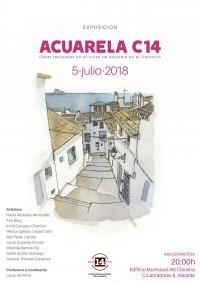 Exposición de las obras curso de Acuarela