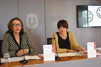 Gloria Vara y Miriam Gilabert, en la comparecencia de prensa