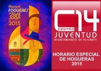 Horario de apertura de Centro 14 en Hogueras 2015