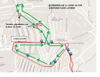 Modificación itinerario línea 06