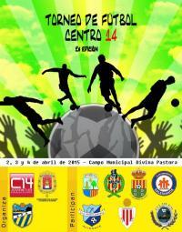 "Imagen cartel ""Torneo de Fútbol Centro 14 - 2A EDICIÓN""."