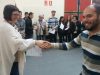 Sonia Tirado hace entrega de diplomas de formación