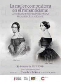 """Imagen cartel """"La mujer compositora en el Romanticismo""""."""