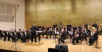 La Banda Municipal, durante la actuación de anoche en el auditorio ADDA en el homenaje a Miguel Hernández