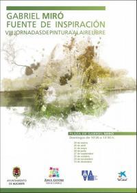 Imagen cartel horario VIII JORNADAS DE PINTURA AL AIRE LIBRE