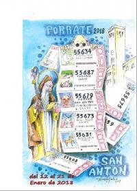 Cartel Porrate  de San Antón 2018