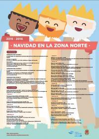 Cartel programa NAVIDAD EN LA ZONA NORTE