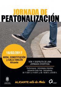 PRUEBA PILOTO DE PEATONALIZACIÓN AV. CONSTITUCIÓN Y BAILÉN DÍA 18/02/17