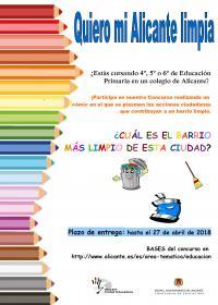 Cartel Alicante limpia