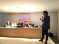 El concejal de Cultura, durante su intervención en Castellón