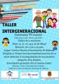 """Taller Intergeneracional """"Cuéntame Tu Cuento"""". Centro Socioeducativo Rabasa"""