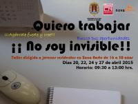 Taller de búsqueda de empleo 'Quiero trabajar, no soy invisible'