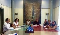 Julia Angulo en la Mesa de Contratación del Patronato Municipal de la Vivienda