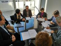 Firma convenio  urbanización de la unidad de ejecución  plan parcial Benalúa Sur