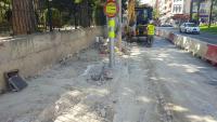 Obras remodelación plaza de España y Santa Teresa