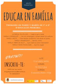 """Grups formatius per a pares i mares """"Educar en família"""""""